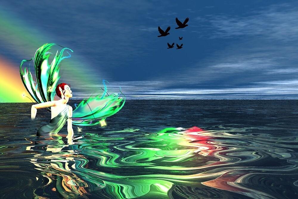 Rainbow Faerie by louears