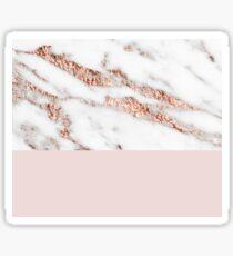Blushing rose gold marble II Sticker