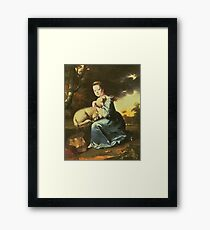 Joseph Wright Of Derby - Miss Frances Warren Framed Print