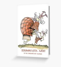 Terrorcatta Army, emperor's new clothes by tony fernandes Greeting Card