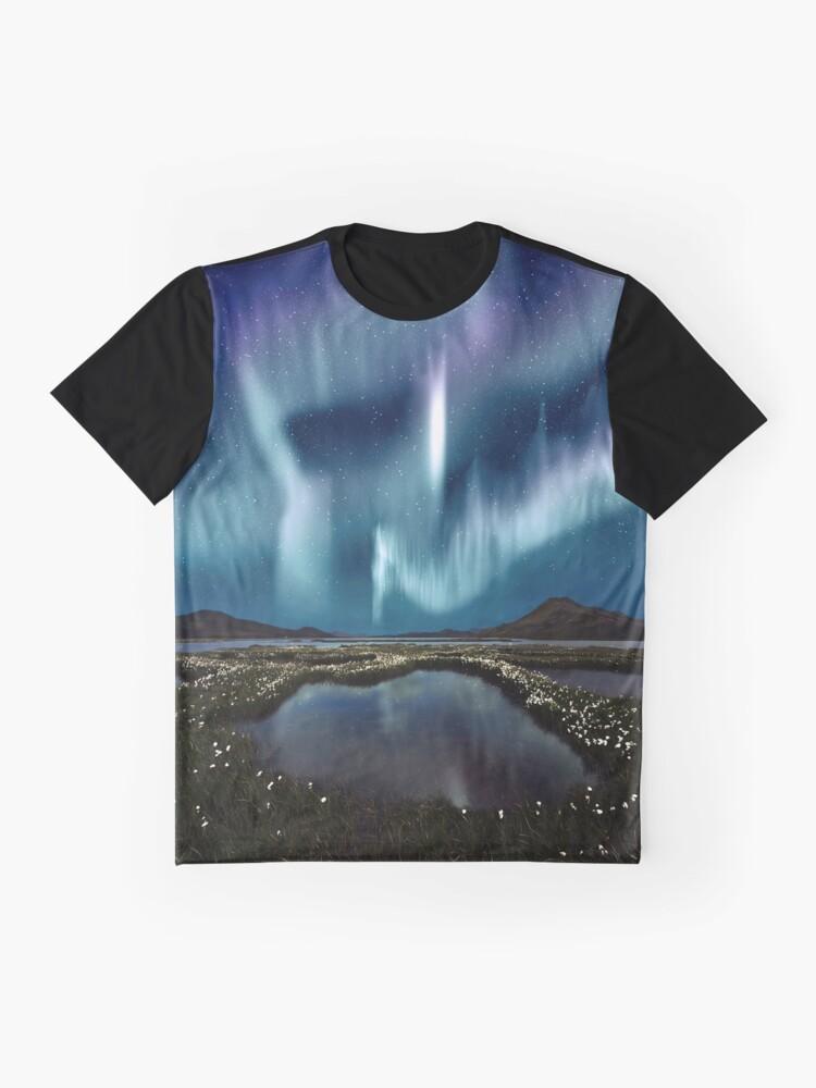 Alternative Ansicht von Nordlichter Grafik T-Shirt