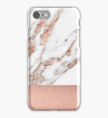 Rose gold marble and foil iPhone Case/Skin