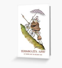 Terrorcatta Army, theirs not to reason why, tony fernandes Greeting Card