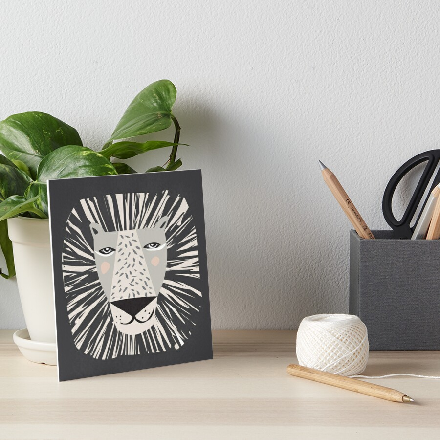 Friendly Lion Art Board Print