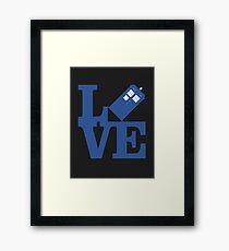 Love Doctor Who Framed Print