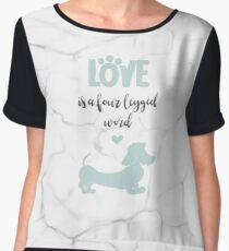 Mint & Marble 'Love is a Four Legged Word' Wire Hair Dachshund Chiffon Top