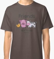 Friends Not Food T-Shirt for Vegans and Vegetarians Classic T-Shirt