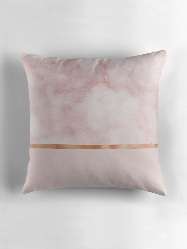Blush Rose Throw Pillows :
