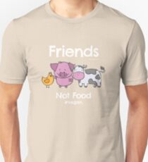 Friends Not Food T-Shirt for Vegans and Vegetarians Unisex T-Shirt