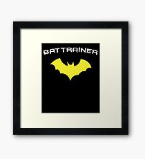 BATTRAINER - Super Hero Fitness Gym Trainer Framed Print