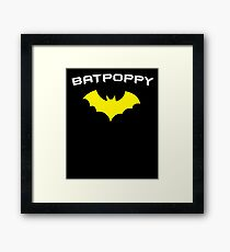 BATPOPPY- Proud Poppy GrandFather Super Poppy Hero Framed Print