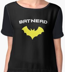 BATNERD - Super Hero Nerd Geek  Chiffon Top