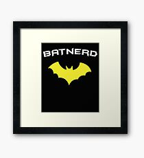 BATNERD - Super Hero Nerd Geek  Framed Print