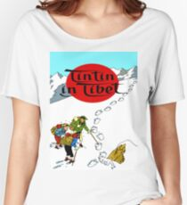 Tintin in Tibet Cover Print Women's Relaxed Fit T-Shirt