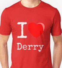 """IT - Balloon heart  - """"I love Derry"""" T-Shirt"""