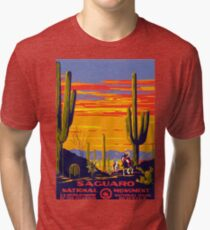 Saguaro National Park Vintage Travel Poster Tri-blend T-Shirt