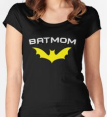 BATMOM - Proud Mom Mother Super Mom Hero  Women's Fitted Scoop T-Shirt
