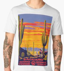 Saguaro National Park Vintage Travel Poster Men's Premium T-Shirt