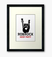 Rock to noisy party Framed Print