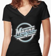 Magna Women's Fitted V-Neck T-Shirt