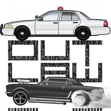 Law-OutLaw Crown Vic & 66Stang by JRLacerda
