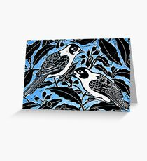 blue birds Greeting Card