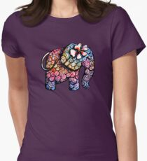 Tattoo Elephant TShirt Womens Fitted T-Shirt