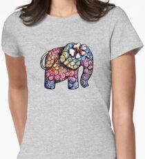 Tattoo Elephant TShirt Womens Fitted T-Shirt