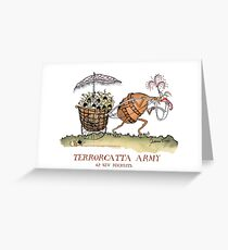 Terrorcatta Warrior, new recruits by tony fernandes Greeting Card