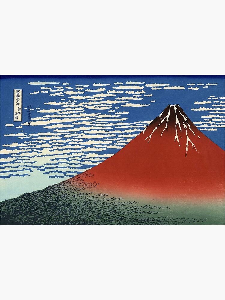 Hokusai, VOLCANO, FUJI, Thirty six Views of Mount Fuji, No. 33. Japan, Japanese, Wood block, print. by TOMSREDBUBBLE
