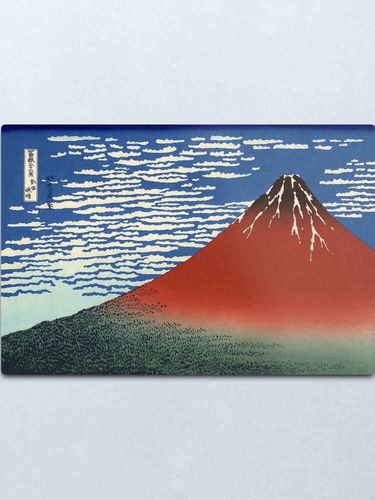 Alternate view of Hokusai, VOLCANO, FUJI, Thirty six Views of Mount Fuji, No. 33. Japan, Japanese, Wood block, print. Metal Print