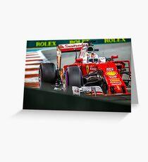 Sebastian Vettel formula 1 Greeting Card