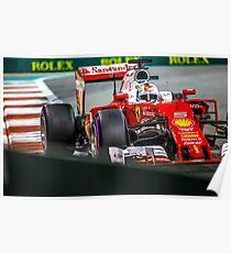 Sebastian Vettel formula 1 Poster