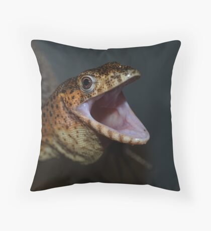 Angry Rusty Monitor Throw Pillow