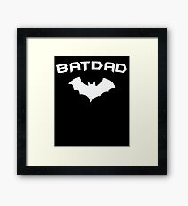 BATDAD - Proud Dad Father Super Dad Hero  Framed Print
