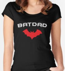 BATDAD - Proud Dad Father Super Dad Hero  Women's Fitted Scoop T-Shirt