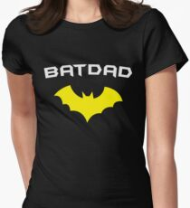 BATDAD - Proud Dad Father Super Dad Hero  Womens Fitted T-Shirt