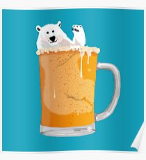 Chilled Bear Poster