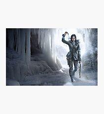 Lara in the Ice Photographic Print