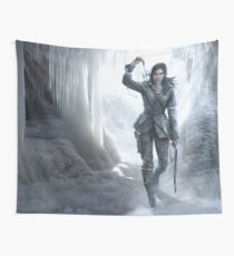 Lara in the Ice Wall Tapestry