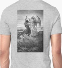 Gustave Dore, Bible, Biblical, Jacob, wrestling with the angel, 1855 T-Shirt