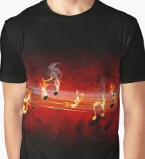 Hot Music Notes Graphic T-Shirt