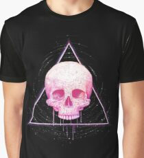 Skull in triangle on black Graphic T-Shirt