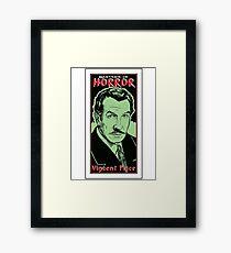 VINCENT PRICE-MASTER OF HORROR Framed Print