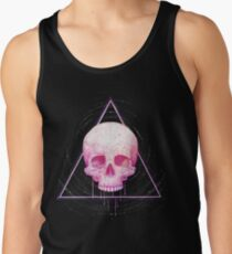 Skull in triangle on black Men's Tank Top