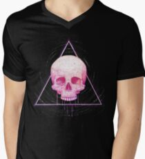 Skull in triangle on black T-Shirt