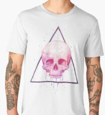 Skull in triangle on black Men's Premium T-Shirt