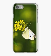 White Butterfly Yellow Floral iPhone Case/Skin
