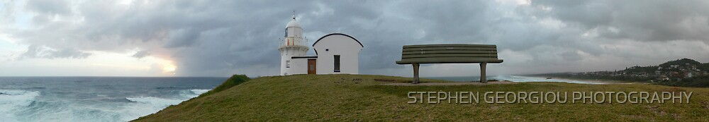 Tacking Point Lighthouse Panorama by STEPHEN GEORGIOU PHOTOGRAPHY