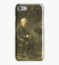 Jozef Israels - Interior Of A Peasant Hut 1880 - 1911 iPhone Case/Skin